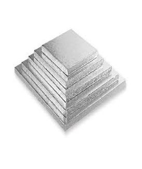 Sottotorta Quadrato Decora Argento 30x30cm