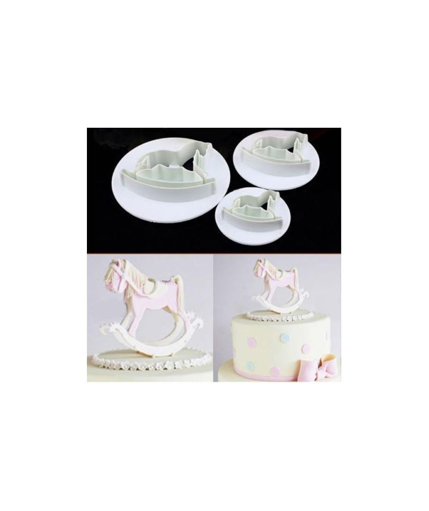Cavallo A Dondolo Design.Set Cavallo A Dondolo 3d Stampibiscotti Cake Design