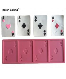 Stampo Carte da Poker 3d silicone