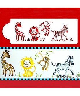 Stencil Animali Giungla