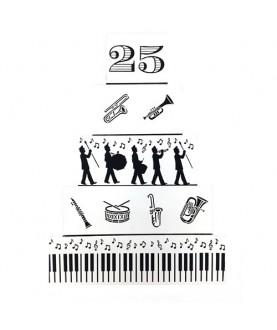 Stencil Biscotti Strumenti Musicali 6 pz