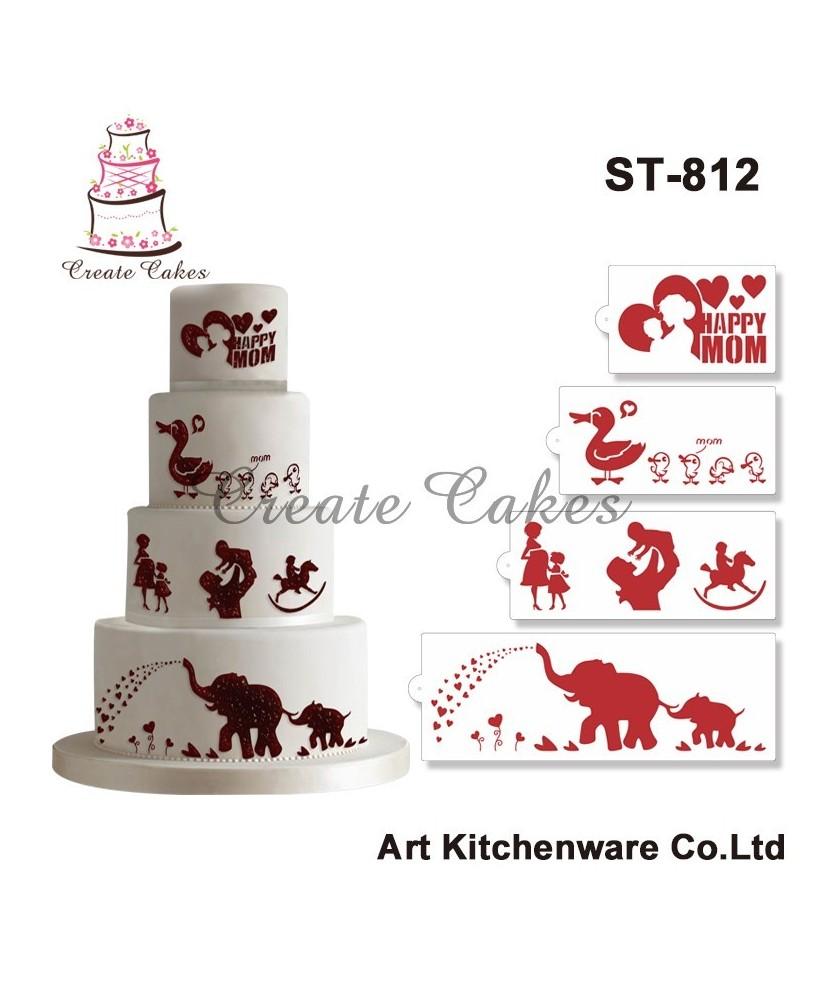 Stencil Elefanti