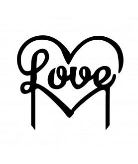 Topper Love h10cm