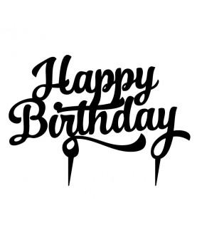Topper Happy Birthday h9cm