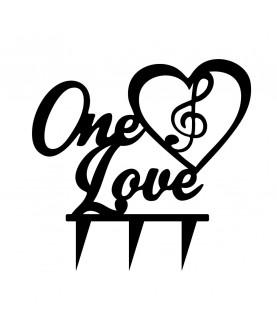 Topper One Love h13cm