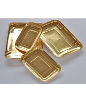 Vassoio 18x12cm Carta Oro