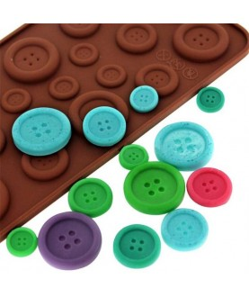 Stampo Bottoni 3d silicone