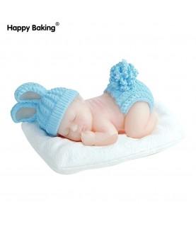 Stampo Bebè Coniglietto che dorme 3d silicone