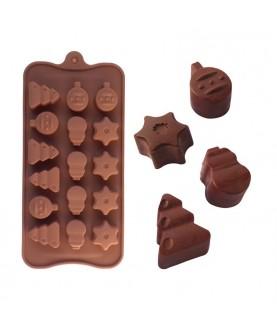 Stampo Natale 1 silicone cioccolatini