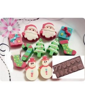 Stampo Natale 2 silicone cioccolatini
