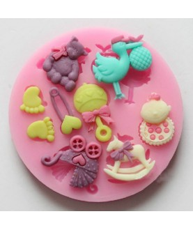 Stampo Baby Shower 4 3d silicone