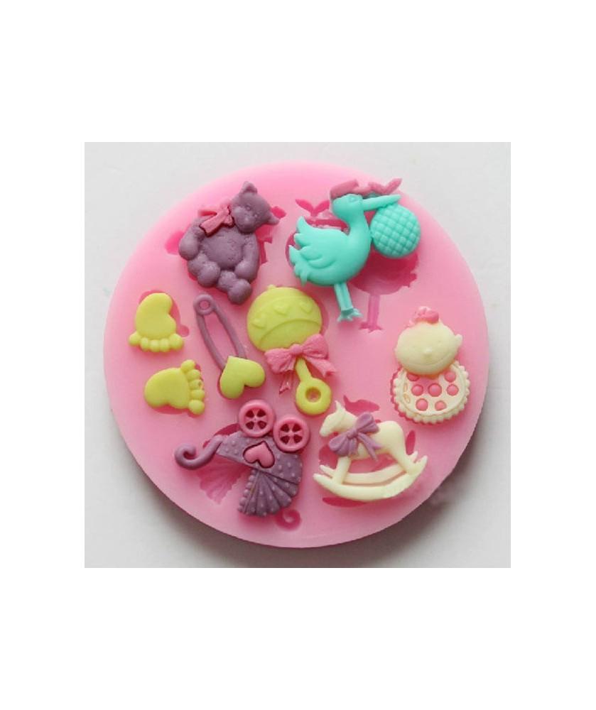 Stampo Accessori Bebè 2 3d silicone
