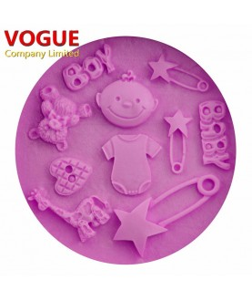 Stampo Baby Shower 3 3d silicone