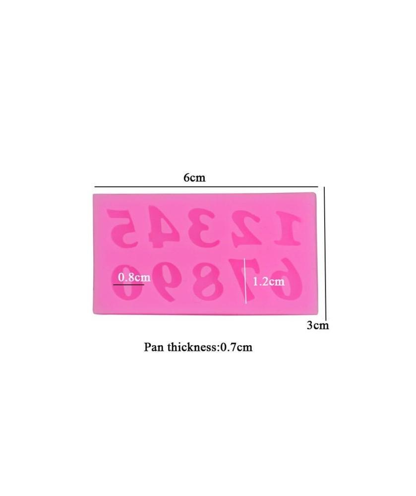 Stampo Numeri 3d silicone