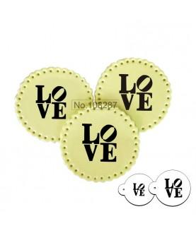 Stencil Biscotti Love