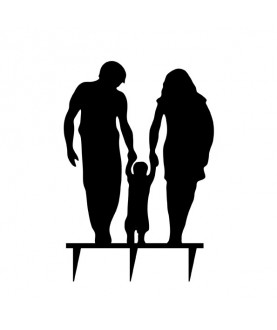 Topper genitori con bambino