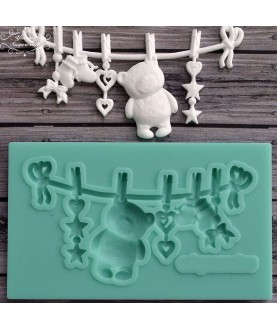 Stampo Baby Shower 5 3d silicone