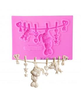 Stampo Giochi Coniglietto Bebè 3d silicone