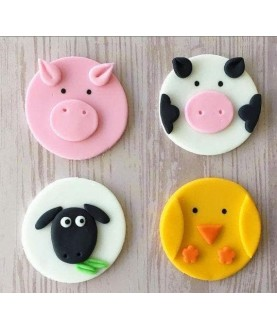 Set 4 animali fattoria