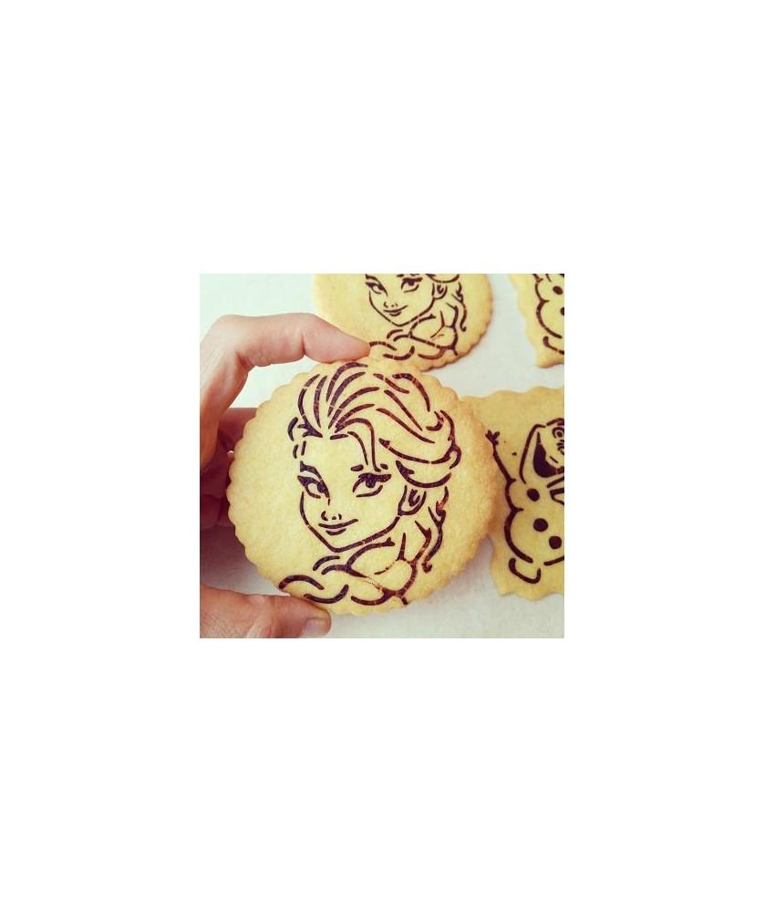 Stencil Biscotti Elsa Frozen