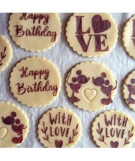 Stencil Biscotti With Love